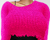 Ripped Knit Fushia