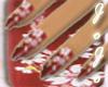 [JoJo] red flower nails