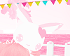 Cute Pink & White Bunny
