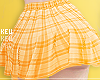 火- Yellow Plaid Skirt
