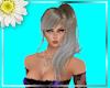 Side Ponytail ash blonde