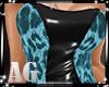 Dress P.V.C Animal Blue