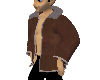 Brown Suede Bomber