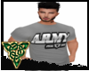 Grey Army Tee Shirt Top