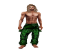Green Tribal Pants