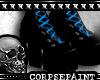 Goth Platform Boots Blue