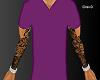 Purple Vneck