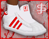 J$ Triple Stripe Red/Wht