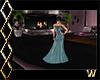 Elegant Teal Gown