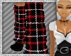 {DR} Red plaid socks