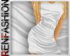 $R White Silk Dress
