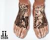 Wolf feet tattoo