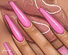 f. plastic pink nails