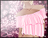 *S Summer Frill Top Pink