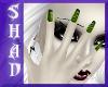 {SP} Green/BLack Nails