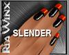 Black Orange Nails
