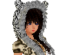 Leopard hair hat black