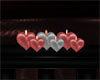 Pink & Svl Heart Candles