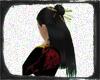 thick black gloss hair