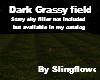 dark grassy field empty