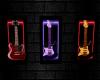 CD Neon Rock Guitar Art