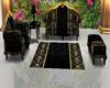 gold and black sofa