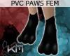 +KM+ PVC Paws Blk FEM