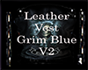 Leather Vest Grim BlueV2