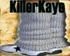 [KK] Gray KnittedLegWrmr