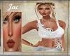 ~J ~LACE UNIQUE TOP WHT