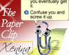 X Paper Clip - Silly