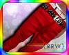 {R} Stud Red Biker Jean
