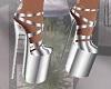 Silver Shoes Platform