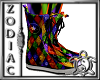 Rainbow Harlequin shoes
