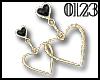 *0123* Gold&Black Heart