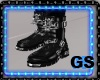 """GS"" ROCKERS BLACK BOOTS"