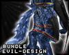#Evil Blue Werewolf Tail