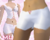 White pink laced shorts