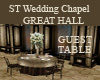ST GH GUEST TABLE
