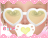 Heart Glasses Yellow