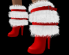 Fur Red Christmas Boots