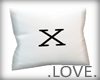 .LOVE. Letter x Pillo
