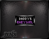 Daddys Baby Girl Badge