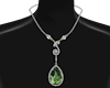 Silver Olivine Necklace