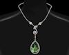 Silver Olivine Necklace