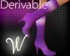 *W* Derivable Heel Boots