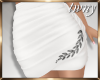 Ruched Mini Skirt White