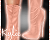 Rose Gold Leather Boots
