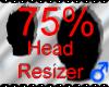 *M* Head Resizer 75%