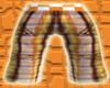 *CA* Orange Plaid Shorts